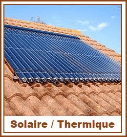 Panneaux solaires sur tuiles